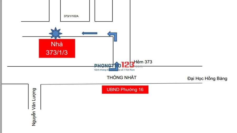 Cần thêm 1 bạn nữ ở ghép tại Thống Nhất, Gò Vấp, HCM (Chi phí trọn gói 1.1 triệu/ người/ tháng)