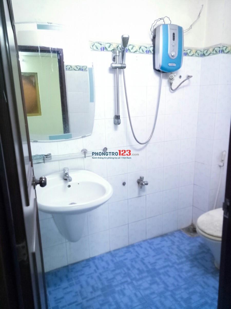 Cho thuê nhà HXH 377/ CMT8 (ngã 3 Hòa Hưng), trệt lầu, 2PN, 4x17m 13,8tr