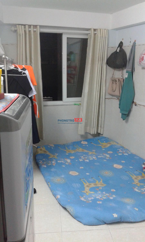 Quận Bình Thạnh, đường Ung Văn Khiêm, cần tìm 1 bạn nữ ở ghép, phòng 2 người ở, giá phòng 2,200,000 đồng/tháng