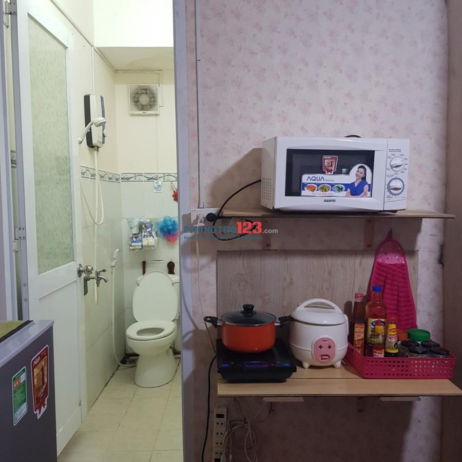 Cho thuê căn hộ mini 2PN 1PK 40m2 tại 209 Trần Văn Đang, Q.3