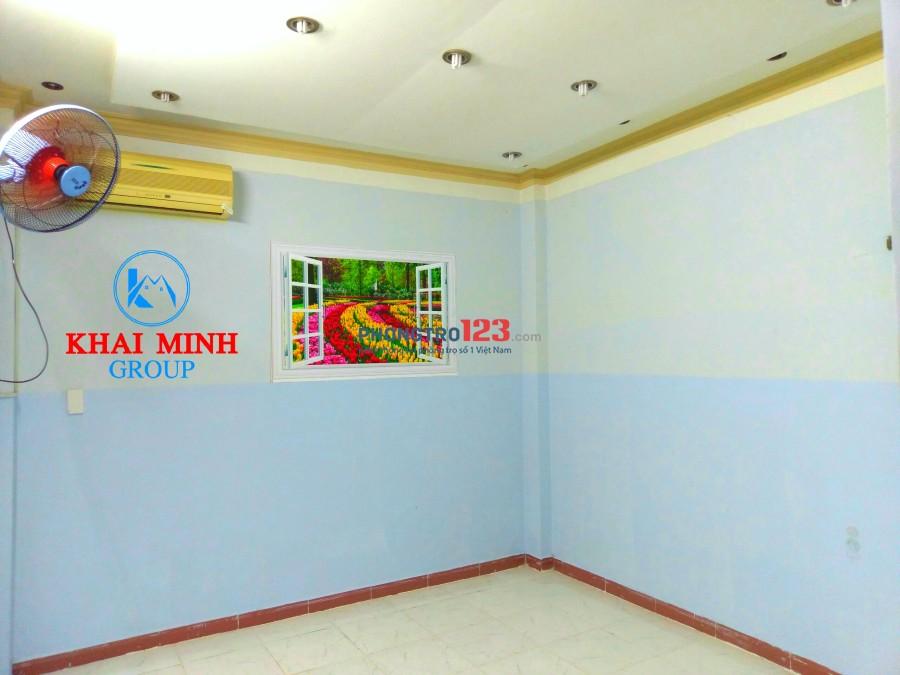Phòng có máy lạnh, ban công, bảo vệ gần ngã tư Chu Văn An- Đinh Bộ Lĩnh