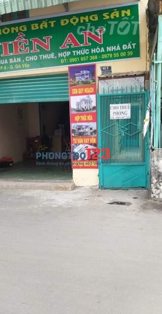 Cho thuê nhà MT 61 đường số 3, P.9, Gò Vấp, TP.HCM