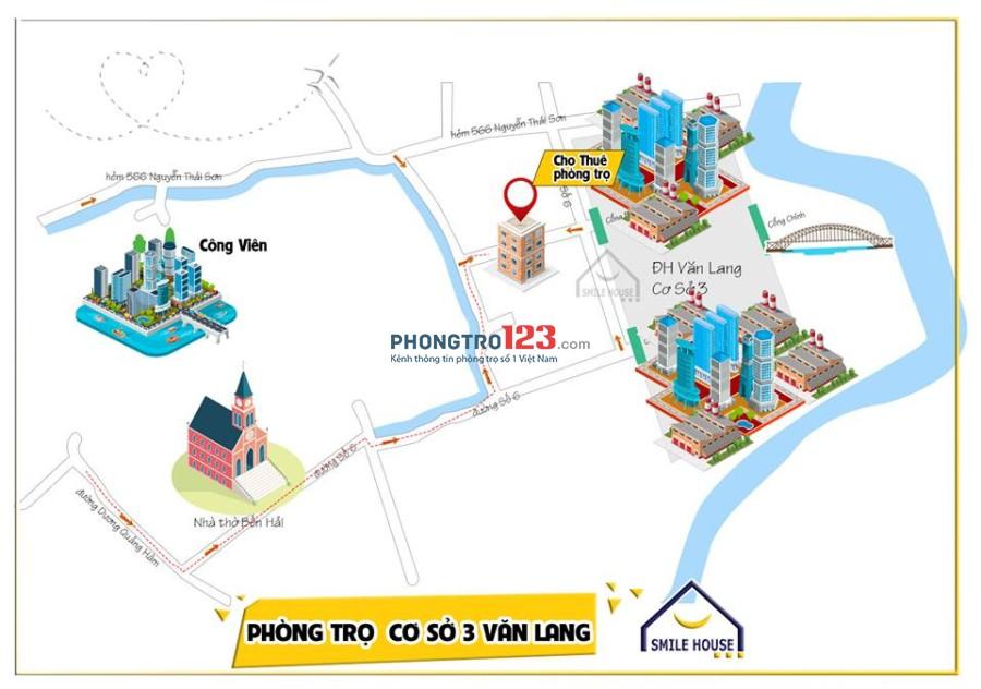 Phòng trọ cao cấp cách Đại Học Văn Lang cơ sở 3 chỉ 50m, giá rẻ nhất khu vực