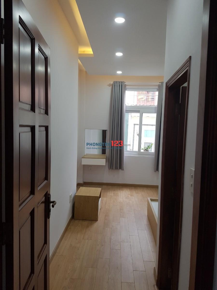 Phòng mới xây, đầy đủ tiện nghi, 1pb, 1pn, Q.Trung, cạnh chợ Hạnh Thông Tây, giá 4.3tr/tháng
