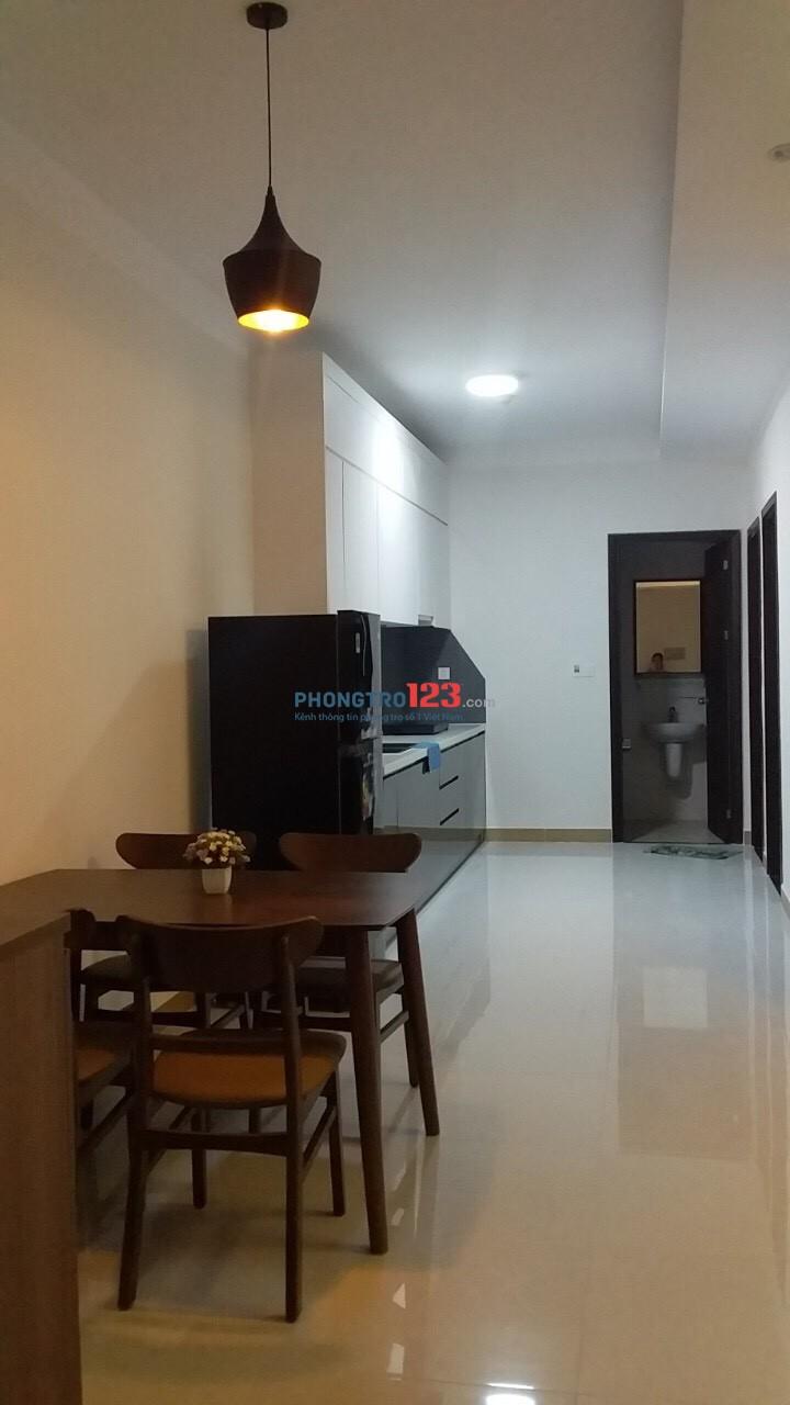 Cho thuê căn hộ A1 Riverside, 2 PN, căn góc, lầu cao, thoáng mát, full nội thất