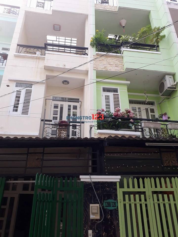 Cho nữ thuê, Nhà Bè, 14m vuông, toilet riêng, 1.500.000.