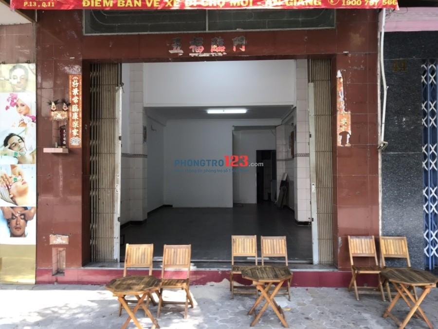 Mặt bằng kinh doanh MT đường Lãnh Binh Thăng, Q.11. DT 65m2. Giá thuê 20 tr/tháng