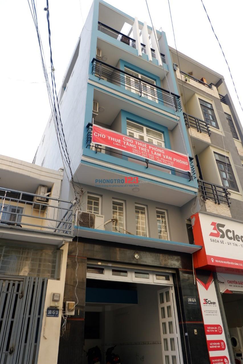 Cho thuê MB hẻm xe tải 4x18 Tặng Free Tầng Lửng hẻm 180 Nguyễn Hữu Cảnh, Q.Bình Thạnh