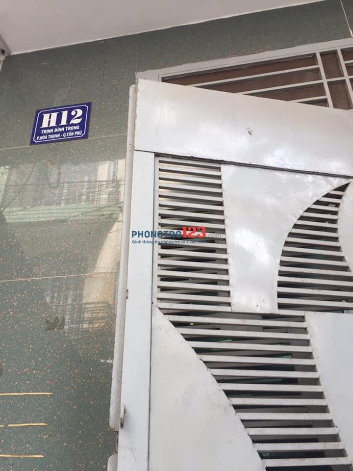 Cho thuê phòng trọ H12 Trịnh Đình Trọng quận Tân Phú