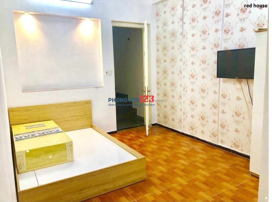 Phòng 20m2 đẹp, mới, đầy đủ tiện nghi CMT8-Q.3, giá 4,5tr/th