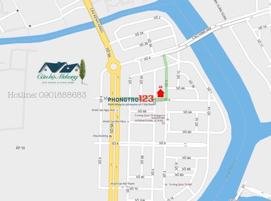 CĂN HỘ 1 PHÒNG NGỦ RIÊNG BIỆT FULL NỘI THẤT TẠI KDC TRUNG SƠN, DT 45M2