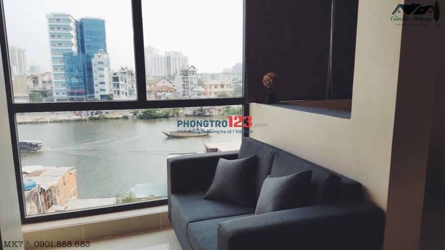 PHÒNG STUDIO FULL NỘI THẤT VIEW SÔNG THOÁNG MÁT DT 28M2 TẠI QUẬN 4