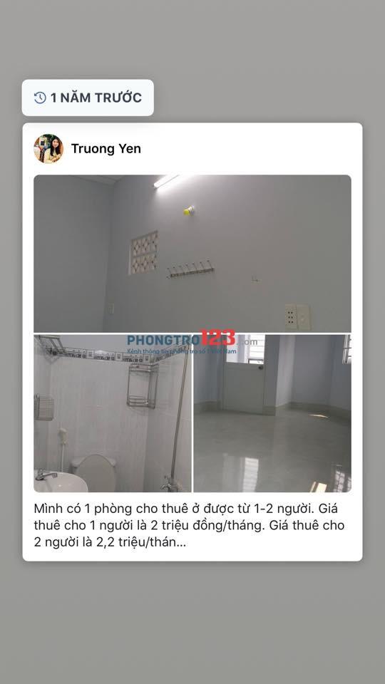 Cho thuê phòng trị mới xây nội thất đầy đủ trung tâm Bình Thạnh