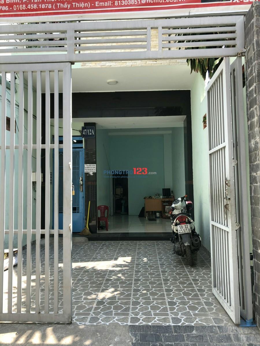 Cho thuê mặt bằng giá rẻ, ở Hòa Bình, quận Tân Phú