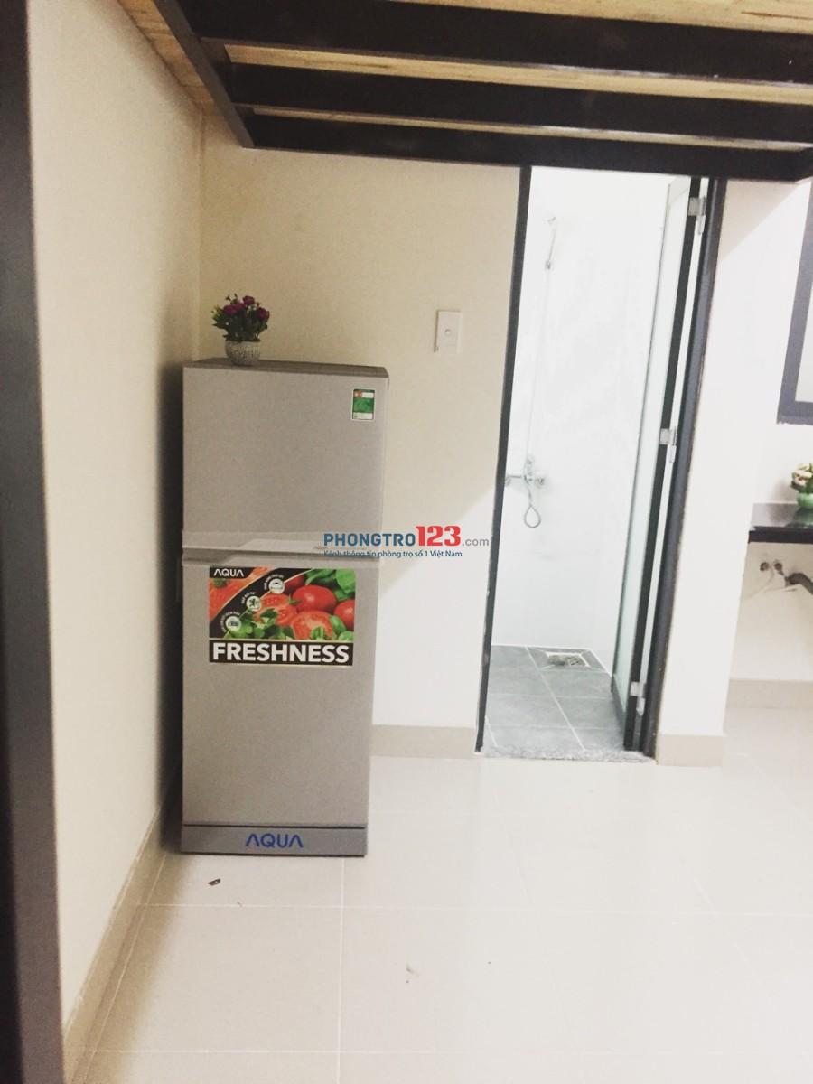 Phòng mới xây 100%,có gác lửng,FULL nội thất chưa bóc tem 5tr XVNT Bình Thạnh.
