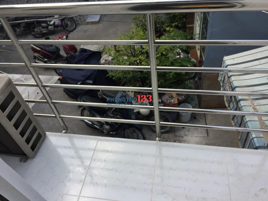 Cho thuê nhà nguyên căn quận 4 mới xây và có máy lạnh phòng riêng, giá 6tr/1 tháng
