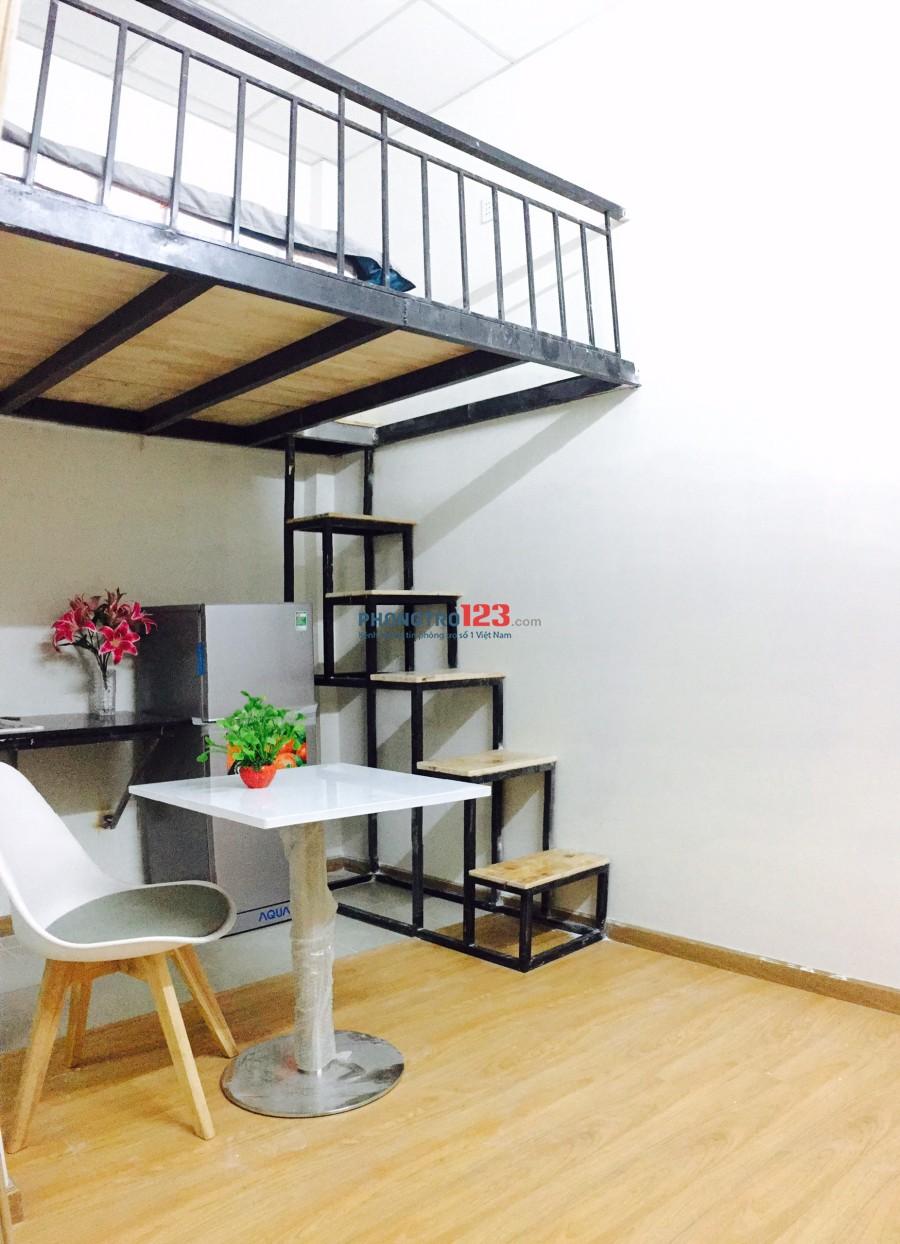 Phòng mới xây thoáng mát full nội thất hiện đại ở trung tâm Bình Thạnh