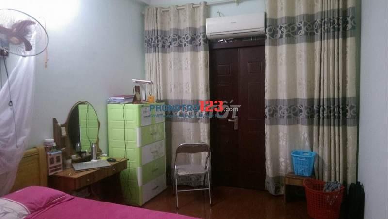 Cho thuê nhà riêng 41m2 - 2 phòng ngủ, 2 wc, điều hòa, nóng lạnh, phòng bếp ăn - điện nước nét tính theo hóa đơn