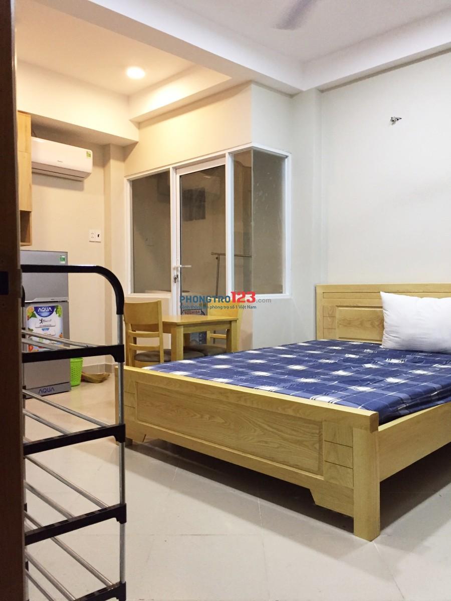 Căn hộ mini nội thất mới cực đẹp, có cả cửa sổ, giếng trời Đường Cách Mạng Tháng 8