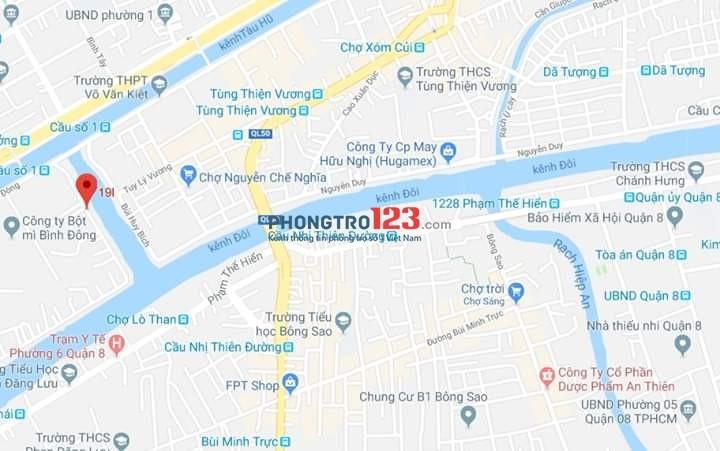 Cho thuê nhà nguyên căn kết cấu 1trệt- 1lầu- 2PN-2WC, Giá 6tr tại Đường Ngô Sỹ Liên, Quận 8