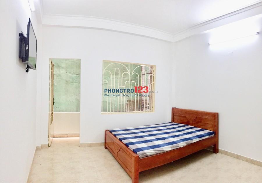 Cho thuê phòng Phú Nhuận 27m2 giờ tự do, ban công full nội thất, free DV