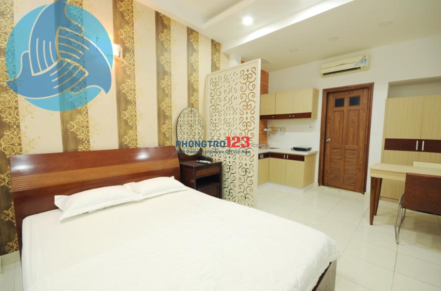 Căn hộ cho thuê 30m2, nội thất đầy đủ tiện nghi sang trọng Trần Minh Quyền, Q.10