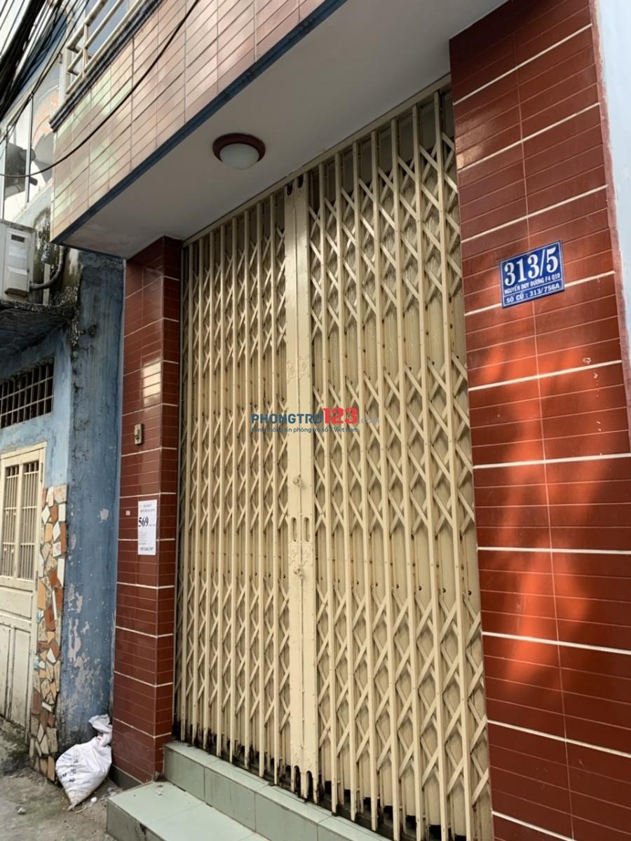 Cho thuê nhà 313/5 Nguyễn Duy Duơng, Quận 10 DT 3x8m, 1PK, 2PN, 2WC, giá 11tr/th
