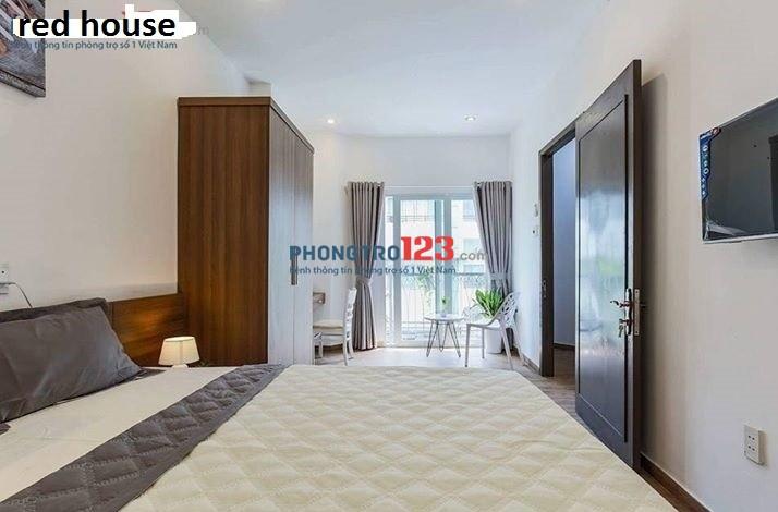 Phòng 35m2, 1PN, 1PB riêng, balcon thoáng mát, đầy đủ tiện nghi Nguyễn Thiện Thuật, Q.3, giá 6,5tr