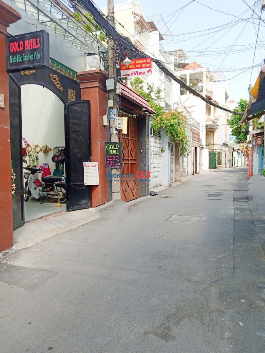 Cho thuê mặt bằng 81/6 Hồ Văn Huê, Phú Nhuận, 1T1L 120M2 4x15 lối đi riêng mới sơn sửa
