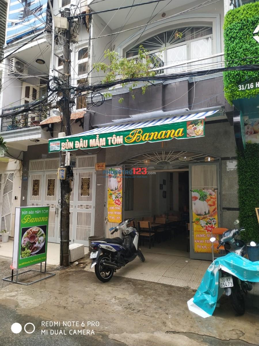 Chính chủ cho thuê mặt bằng gần chợ Hoàng Hoa Thám, Tân Bình