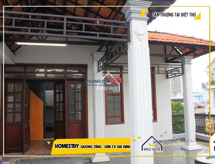 Cho thuê homestay cao cấp nằm trong biệt thự sang trọng trọn gói chỉ 1tr550/th