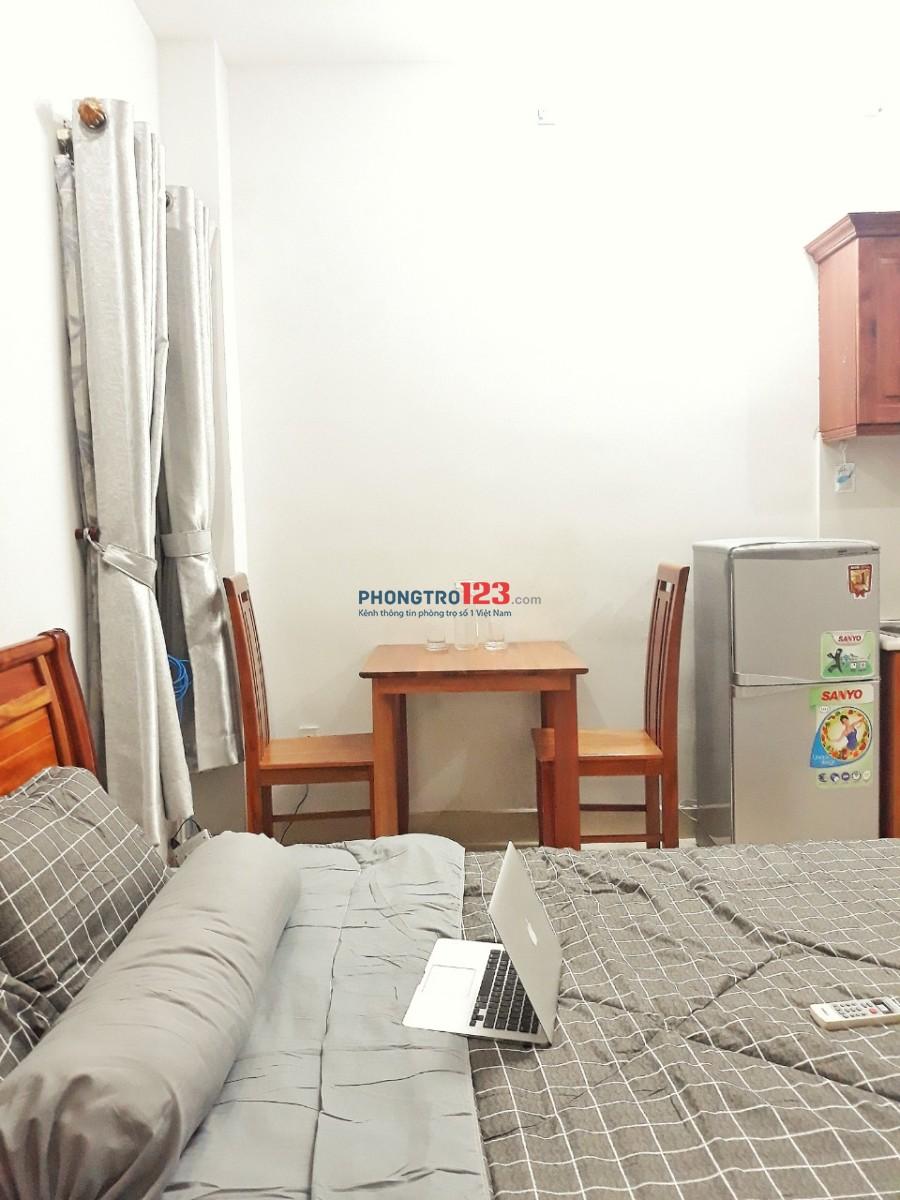 Phòng đầy đủ tiện nghi mới xây, thoáng mát, yên tĩnh giờ giấc tự do TT Q.3