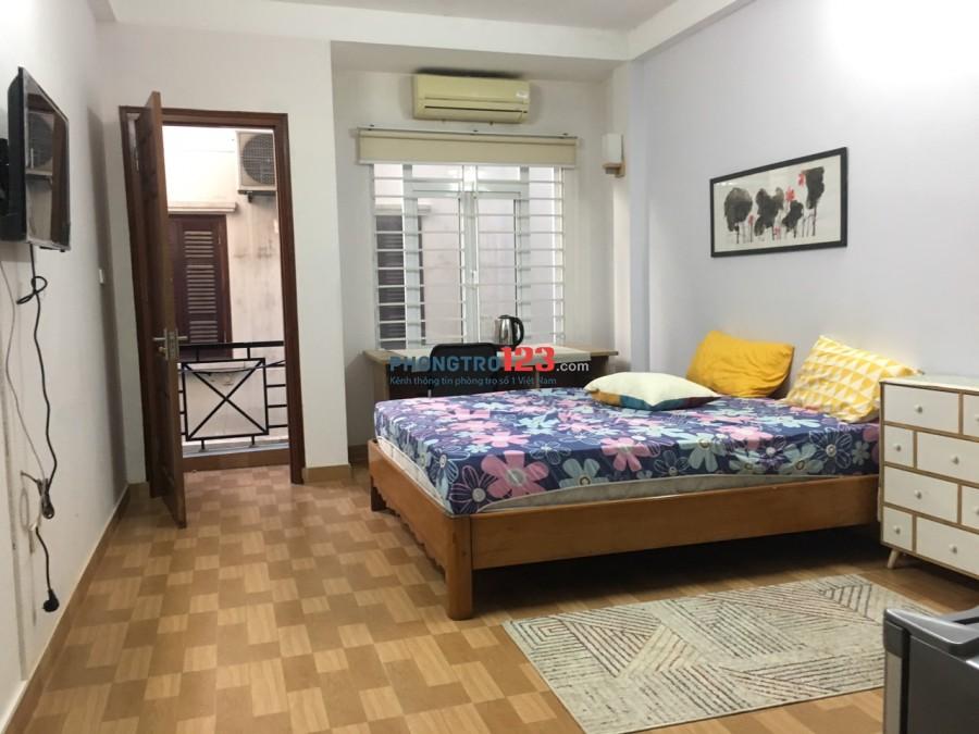 Cho thuê phòng 25m2 + VS riêng biệt + Full đồ ở Nghi Tàm, Tây Hồ. Giá nhỉnh 3 triệu/tháng