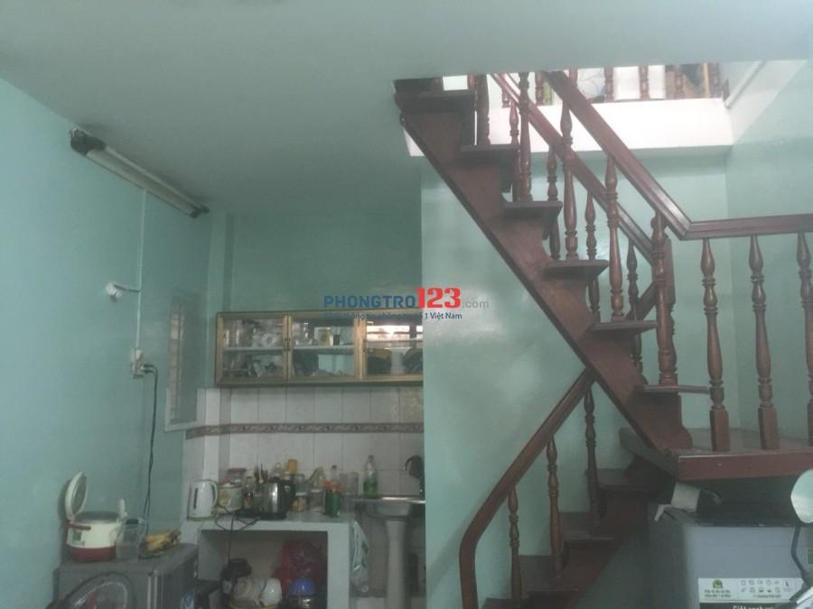 Cần 1-2 Nam SV hay NVVP ở ghép nhà nguyên căn Bình Thạnh giá rẻ 1,25tr/tháng