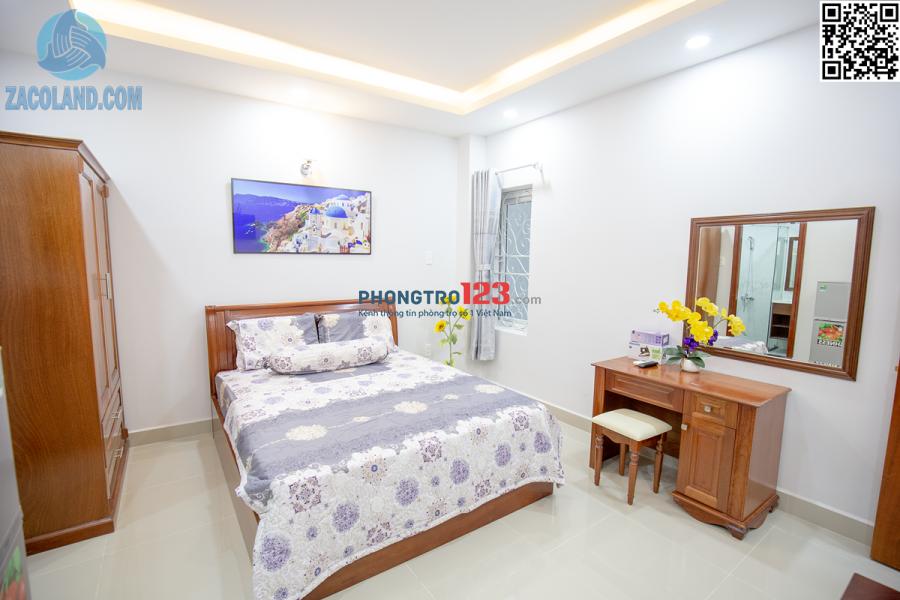 Căn hộ mini full nội thất, tiện nghi, có bảo vệ 24/24 gần cv Lê Thị Riêng