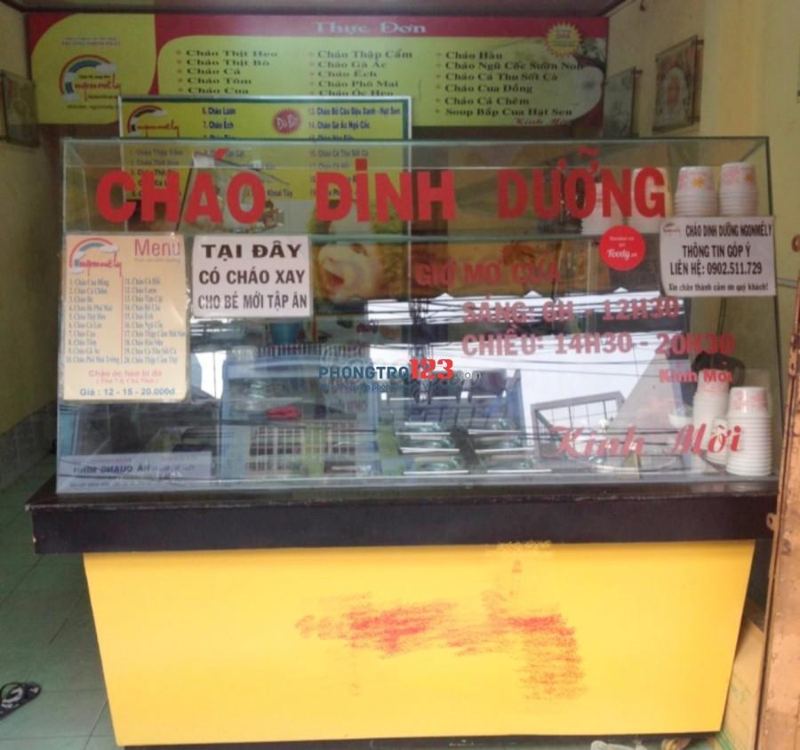 Cần sang đồ dùng cháo dinh dưỡng tại 141 Lê Đình Cẩn, Q.Bình Tân, giá 10tr. LH Ms Gái