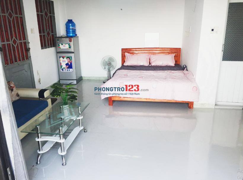 Phòng trọ 30m2 hàng xanh Bình Thạnh, nội thất tiện nghi