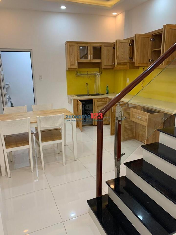 Nhà mới hẻm rộng gần mặt tiền đường Bạch Đằng, Bình Thạnh, trệt 1 lầu, 2PN lớn, 2wc, bếp, phòng khách, hình thật