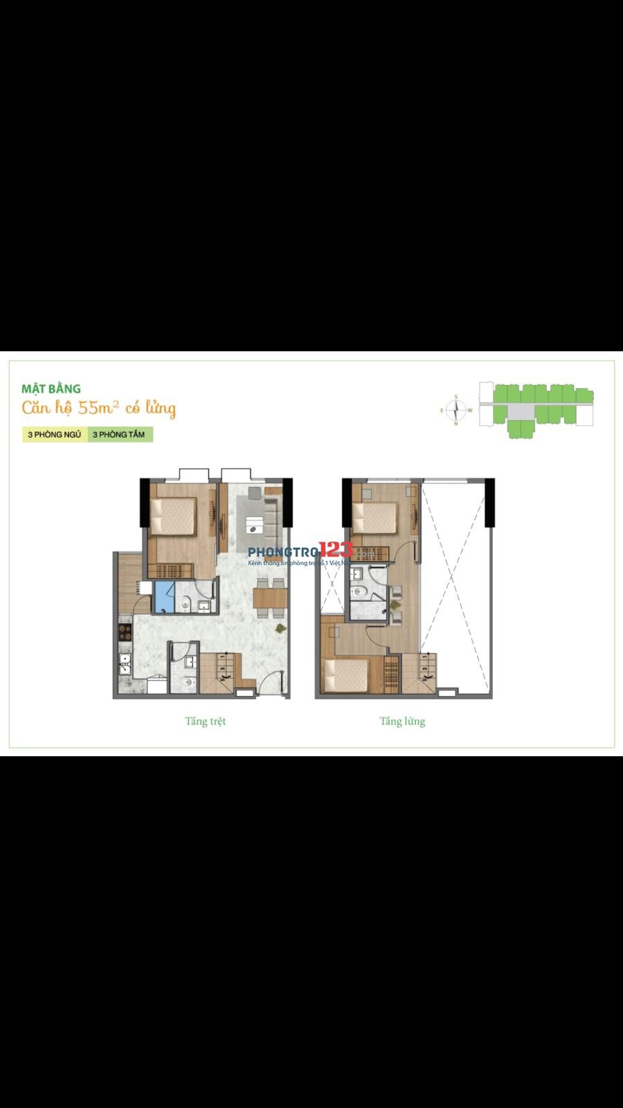 Tìm bạn nữ ở ghép căn hộ La Astoria 3PN, 3WC Full nội thất mỗi phòng tối đa 2ng, giá 1.8tr/ người