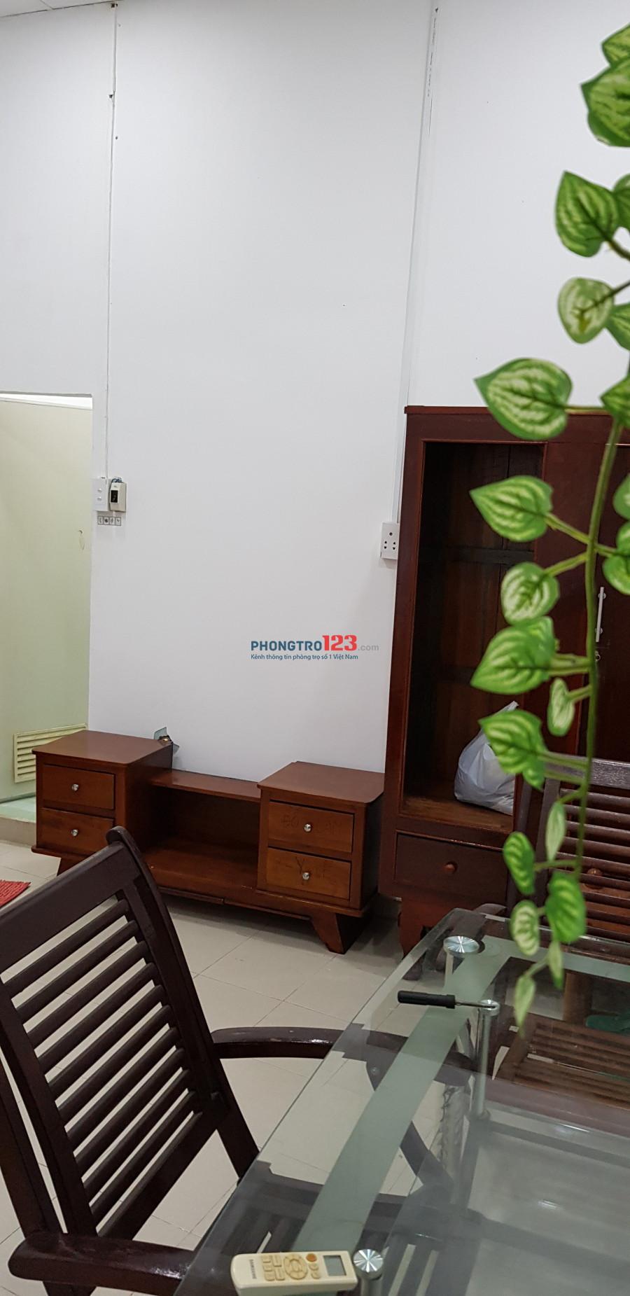 Phòng cho thuê, full nội thất, bếp, wc riêng, giờ tự do, Bùi Viện, Q.1
