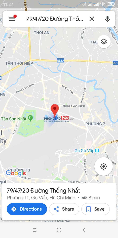 Cho thuê phòng quận Gò Vấp, khu rất an ninh