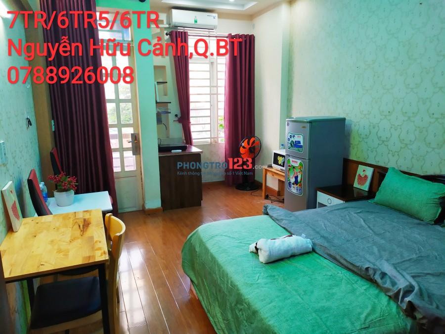 Cho thuê căn hộ cao cấp quận Bình Thạnh hẻm xe hơi