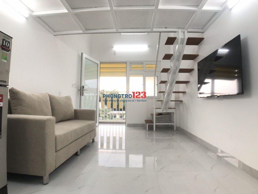 Căn Hộ Mini Gác lửng,Ban công,Full nội thất,Thang máy,Giá 5,3tr tại 85 Nguyễn Văn Qùy,ngay cầu Phú Mỹ,Quận 07