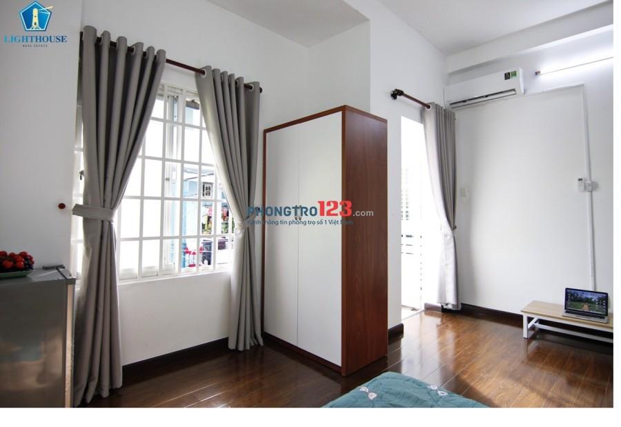 Cho thuê phòng full nội thất mới 100% ban công. Phan Văn Trị, phường 11, Bình Thạnh