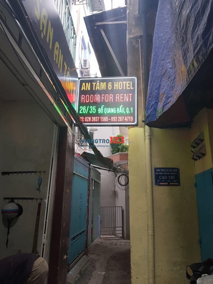 Cho thuê mặt bằng trệt hẻm 26 Đỗ Quang Đẩu, phố đi bộ Bùi Viện, quận 1