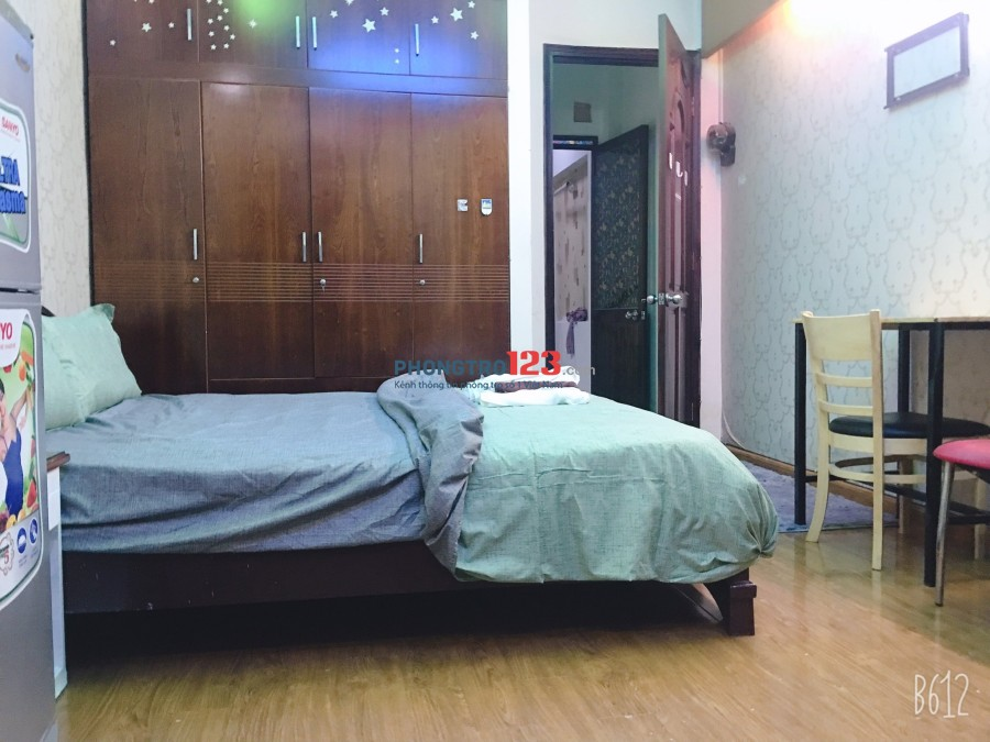 Cho thuê phòng trọ máy lạnh, 135 Nguyễn Hữu Cảnh gần Hutech