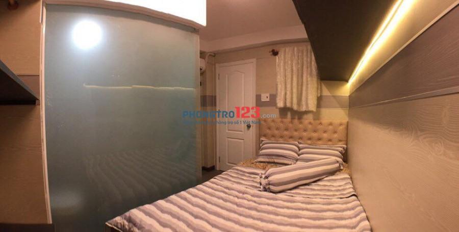 Cho thuê phòng trọ cao cấp, full nội thất, thang máy, hẻm xe hơi 25m2