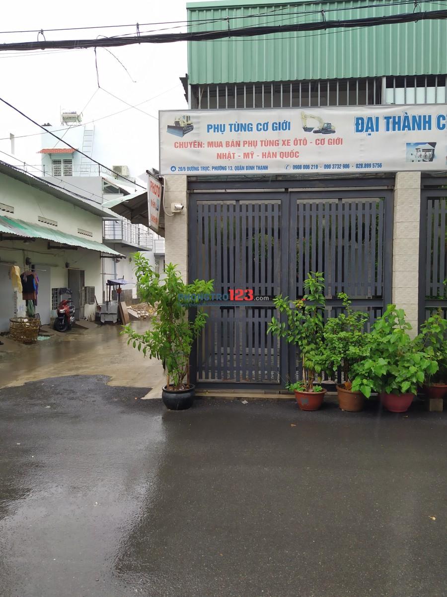 Cho thuê nhà nguyên căn đường Trục, phường 13, Bình Thạnh