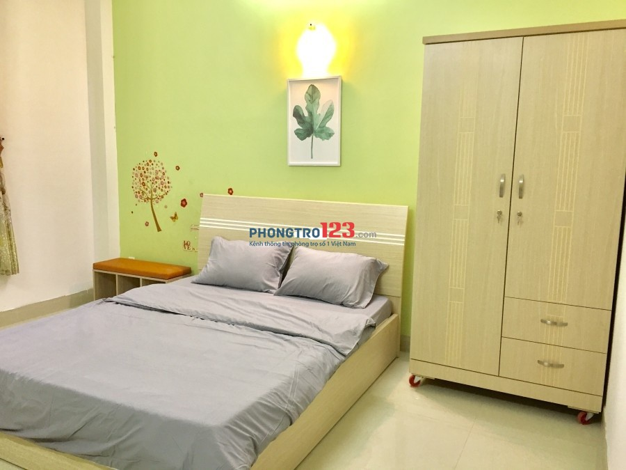 Phòng 30m2, mới xây có 1pn riêng, 1 bếp, tiện nghi đầy đủ đường số 19, GV giá 4.2tr/th