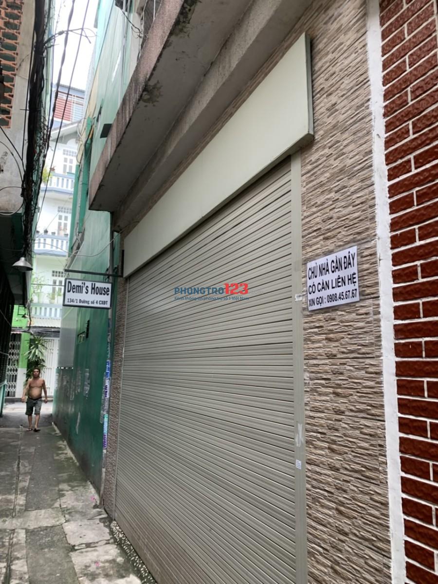 Chính chủ cho thuê nhà nguyên căn 2 lầu khu Cư Xá Đô Thành, Q.3. LH: Ms Mỹ 0938248105